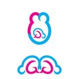 Πρότυπο λογότυπων προσοχής μωρών Στοκ φωτογραφίες με δικαίωμα ελεύθερης χρήσης