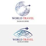 Πρότυπο λογότυπων ταξιδιού παγκόσμιων σφαιρών Στοκ φωτογραφίες με δικαίωμα ελεύθερης χρήσης