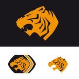 Πρότυπο λογότυπων τιγρών διανυσματική απεικόνιση