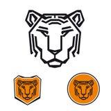 Πρότυπο λογότυπων τιγρών απεικόνιση αποθεμάτων