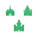 Πρότυπο λογότυπων του Castle Διανυσματική απεικόνιση