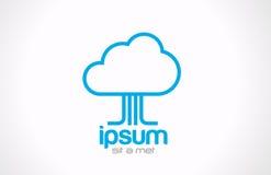 Εικονίδιο έννοιας υπολογισμού σύννεφων λογότυπων. Στοιχεία τεχνολογίας Στοκ εικόνες με δικαίωμα ελεύθερης χρήσης