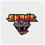 Πρότυπο λογότυπων φιδιών Στοκ Εικόνα