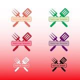 Πρότυπο λογότυπων Resto Στοκ φωτογραφία με δικαίωμα ελεύθερης χρήσης