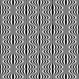 Πρότυπο - οπτική παραίσθηση με το γεωμετρικό σχέδιο Στοκ εικόνα με δικαίωμα ελεύθερης χρήσης