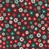 πρότυπο λουλουδιών άνευ ραφής Στοκ Εικόνα