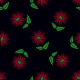 πρότυπο λουλουδιών άνευ ραφής Στοκ Εικόνες
