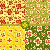 πρότυπο λουλουδιών άνε&upsilo Στοκ φωτογραφία με δικαίωμα ελεύθερης χρήσης