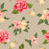 πρότυπο λουλουδιών άνε&upsilo Στοκ εικόνα με δικαίωμα ελεύθερης χρήσης