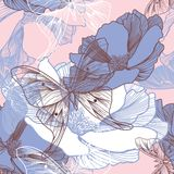 πρότυπο λουλουδιών πετ&al Στοκ Εικόνα