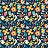 πρότυπο λουλουδιών πο&upsilon Στοκ εικόνα με δικαίωμα ελεύθερης χρήσης