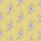 πρότυπο 2 λουλουδιών Στοκ Εικόνα