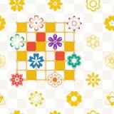 πρότυπο 02 λουλουδιών Στοκ Φωτογραφία