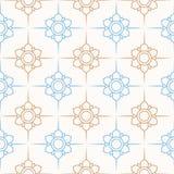 πρότυπο 02 λουλουδιών Στοκ Εικόνα