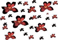 πρότυπο 3 λουλουδιών Στοκ φωτογραφία με δικαίωμα ελεύθερης χρήσης