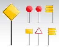 Πρότυπο οδικών σημαδιών για το κείμενο Στοκ Εικόνες