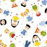 πρότυπο παιδιών άνευ ραφής Στοκ εικόνα με δικαίωμα ελεύθερης χρήσης