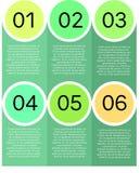 Πρότυπο παρουσίασης κύκλων Στοκ Εικόνα