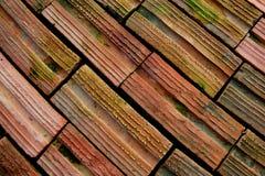 πρότυπο πατωμάτων τούβλου ανασκόπησης Στοκ Εικόνες