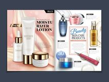 Πρότυπο περιοδικών Skincare Στοκ Εικόνες