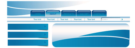 πρότυπο περιοχών aqua διανυσματική απεικόνιση