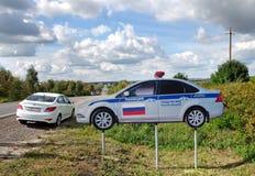 Πρότυπο περιπολικό της Αστυνομίας στο intercity δρόμο στοκ εικόνες με δικαίωμα ελεύθερης χρήσης