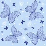 Πρότυπο πεταλούδων Στοκ Εικόνες