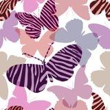 πρότυπο πεταλούδων άνευ ρ& Στοκ Εικόνες
