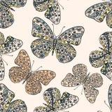 πρότυπο πεταλούδων άνευ ρ& διανυσματική απεικόνιση