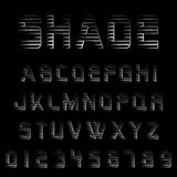 Πρότυπο πηγών αλφάβητου σκιάς Στοκ Εικόνα