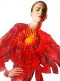 πρότυπο πορτρέτο μόδας Στοκ Φωτογραφίες