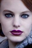 Πρότυπο πορτρέτο ομορφιάς μόδας στη Νέα Υόρκη Στοκ Εικόνες