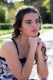 πρότυπο πορτρέτο brunette Στοκ Φωτογραφία