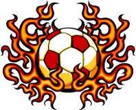 πρότυπο ποδοσφαίρου εικόνας φλογών Στοκ φωτογραφία με δικαίωμα ελεύθερης χρήσης