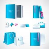 Πρότυπο προτύπων για τα σχέδια μαρκαρίσματος και προϊόντων Απομονωμένα ρεαλιστικά χαρτικά Εύχρηστος για το μαρκάρισμα και το mark Διανυσματική απεικόνιση