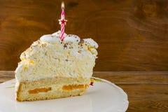 Πρότυπο πρόσκλησης κέικ γενεθλίων Στοκ Εικόνες