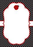 Πρότυπο πρόσκλησης Ladybug Στοκ φωτογραφίες με δικαίωμα ελεύθερης χρήσης