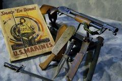 Πρότυπο 12 πυροβόλο όπλο 12 μετρητής WWII του Winchester τάφρων Στοκ Εικόνες