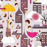 Πρότυπο πόλεων φθινοπώρου ελεύθερη απεικόνιση δικαιώματος