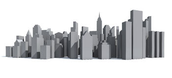 Πρότυπο πόλεων Στοκ Εικόνα