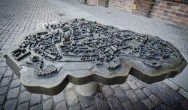 Πρότυπο πόλης κλίμακας Stralsund, Γερμανία Στοκ Εικόνες