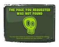 Πρότυπο σελίδων λάθους ελεύθερη απεικόνιση δικαιώματος