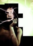 Πρότυπο σκοτεινό φως αντίθεσης καπνού διανυσματική απεικόνιση