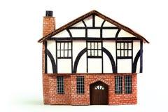 Πρότυπο σπίτι τούβλου και ξυλείας Στοκ φωτογραφία με δικαίωμα ελεύθερης χρήσης