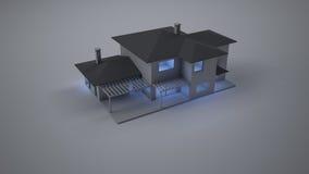Πρότυπο σπίτι Στοκ Εικόνα