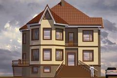 Πρότυπο σπίτι απεικόνιση αποθεμάτων