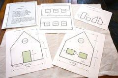 πρότυπο σπιτιών μελοψωμάτων στοκ εικόνα