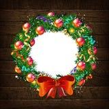 Πρότυπο 2019 στεφανιών Χριστουγέννων Ελεύθερη απεικόνιση δικαιώματος