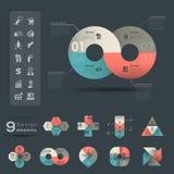 Πρότυπο στοιχείων Infographic Στοκ Φωτογραφίες