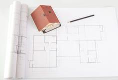πρότυπο σχέδιο σπιτιών κατ&al Στοκ εικόνα με δικαίωμα ελεύθερης χρήσης